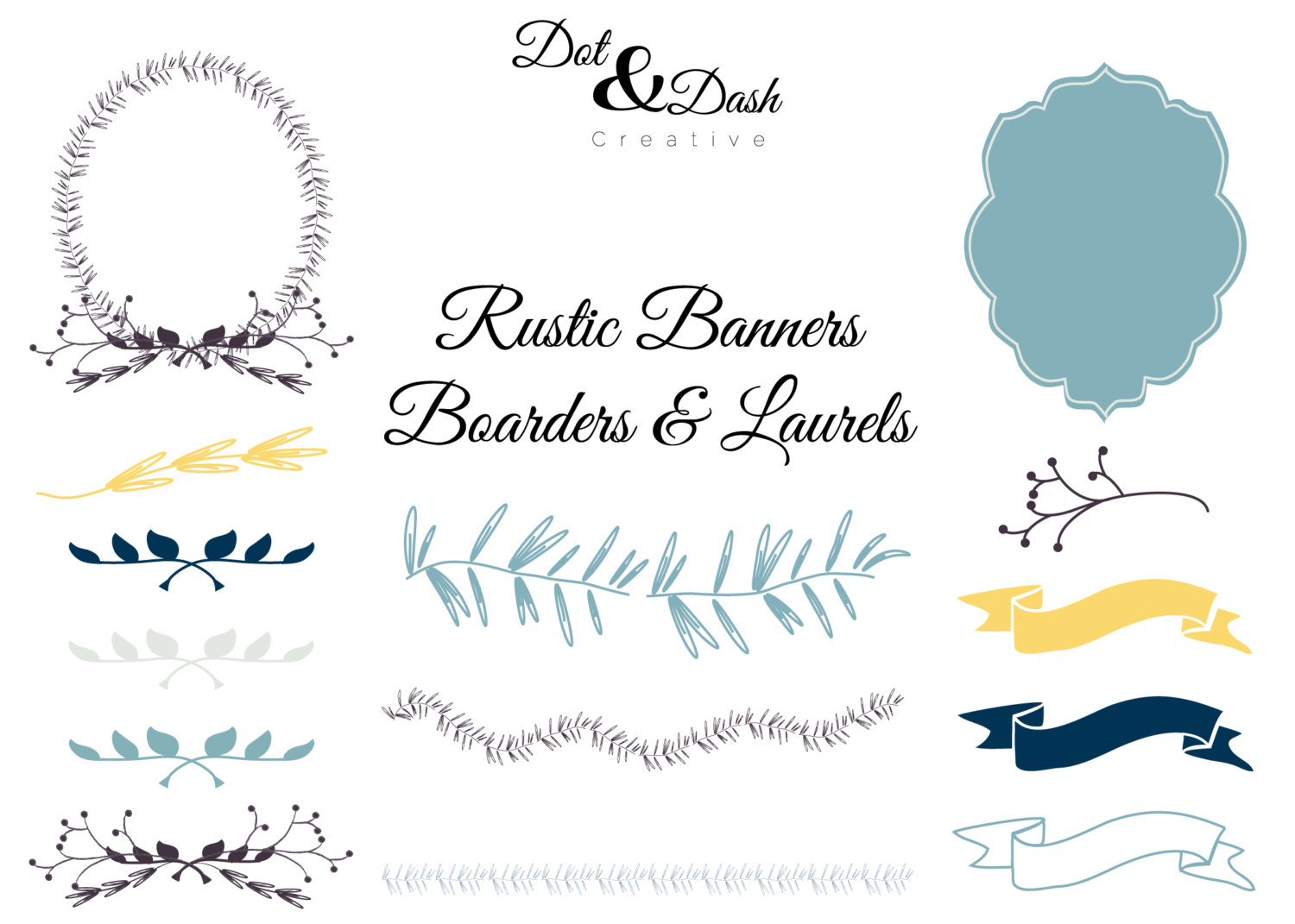 Rustic Banner Clipart.