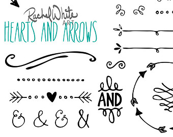 Rustic Arrows And Heart Clipart.