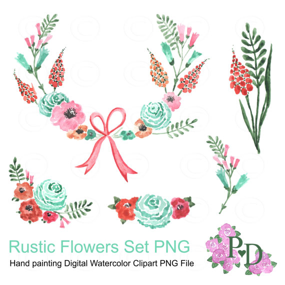 Rustic Wreath Clipart.