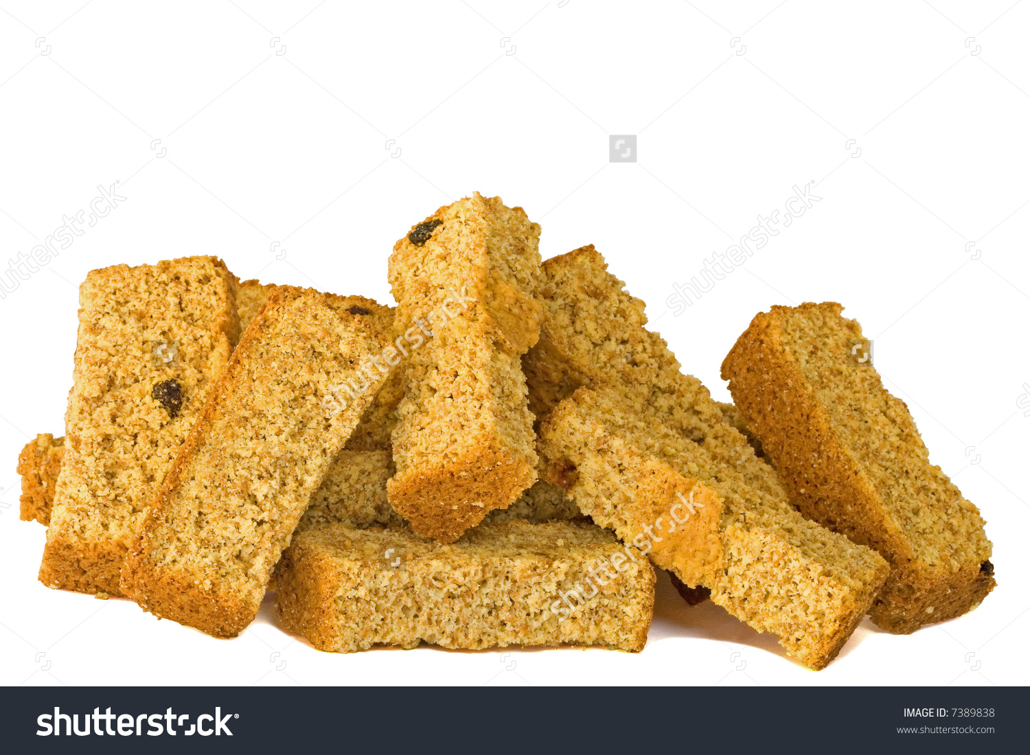 Homemaid Health Rusk Raisins Against White Stock Photo 7389838.
