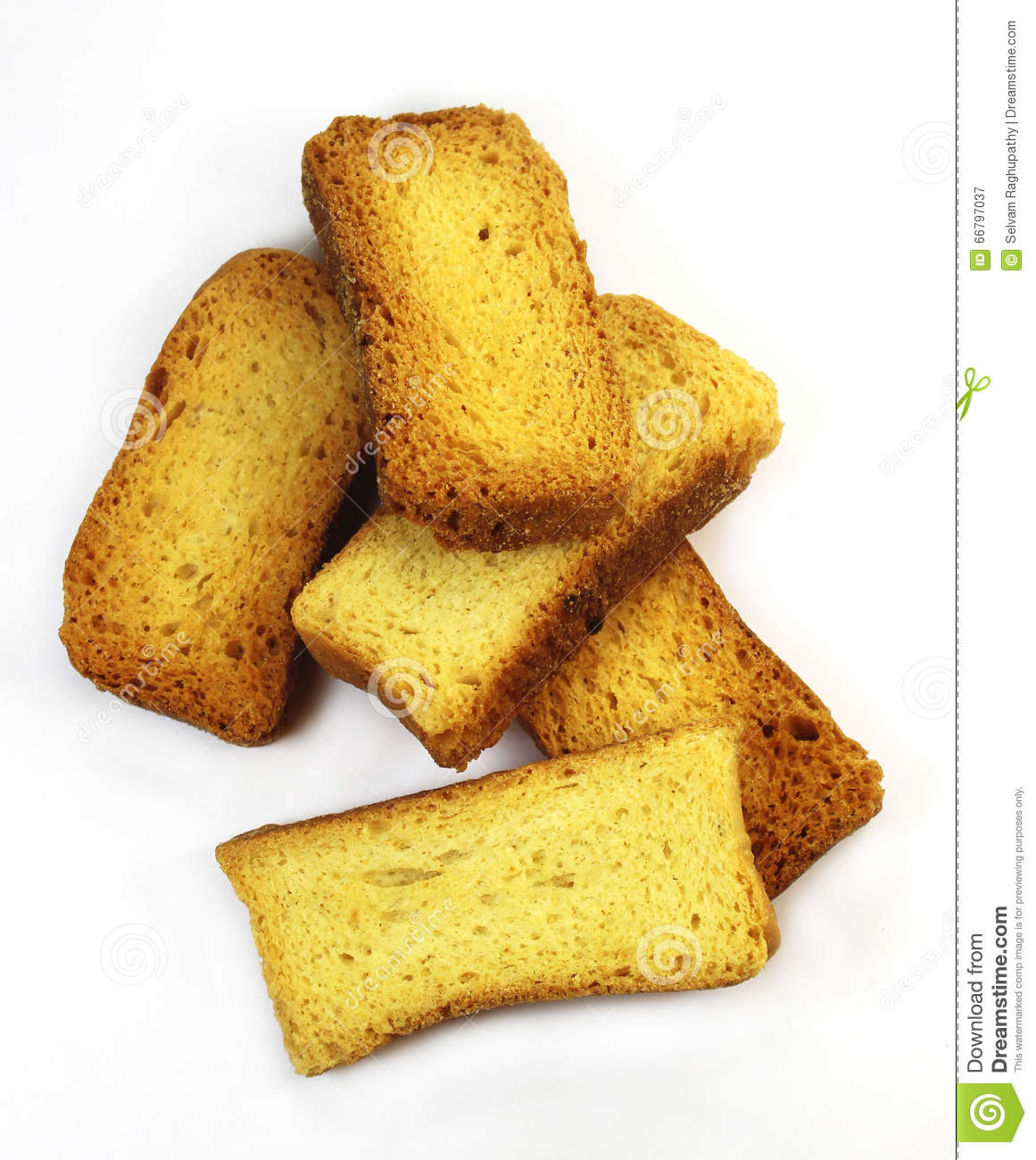 Milk Rusks Stock Photo.