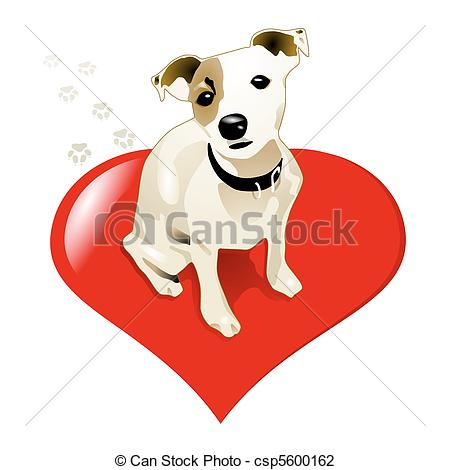 Vector Illustration of little jack russell dog csp5600162.