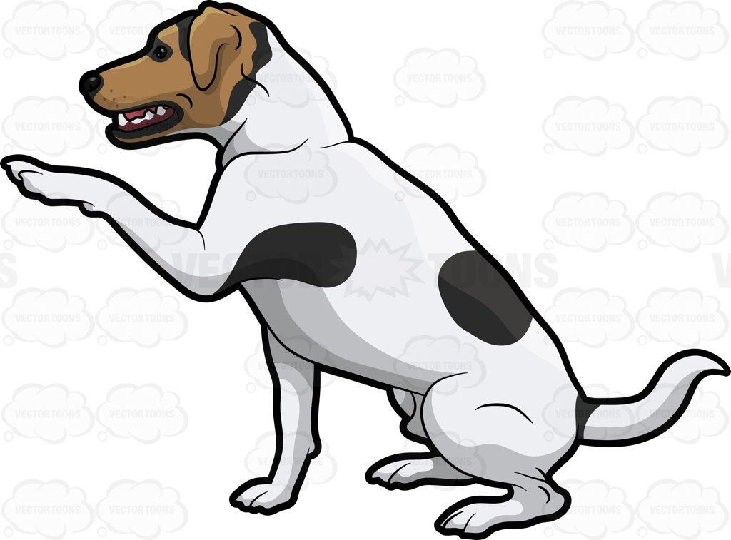 A Jack Russell Terrier Trying To Get Attention Cartoon Clipart.