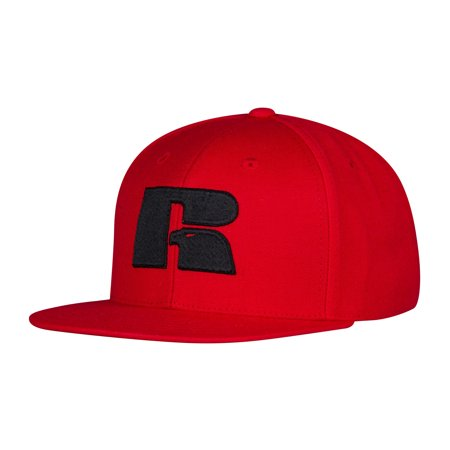 Russell Athletic Men\'s Logo Snapback Cap One Size Red Black.