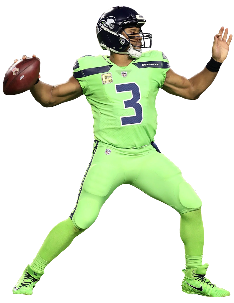 Download Free png Russell Wilson (Seahawks) Color Rush by.