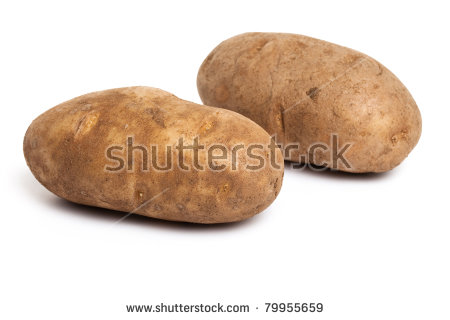 Russet Potato Stock Photos, Royalty.