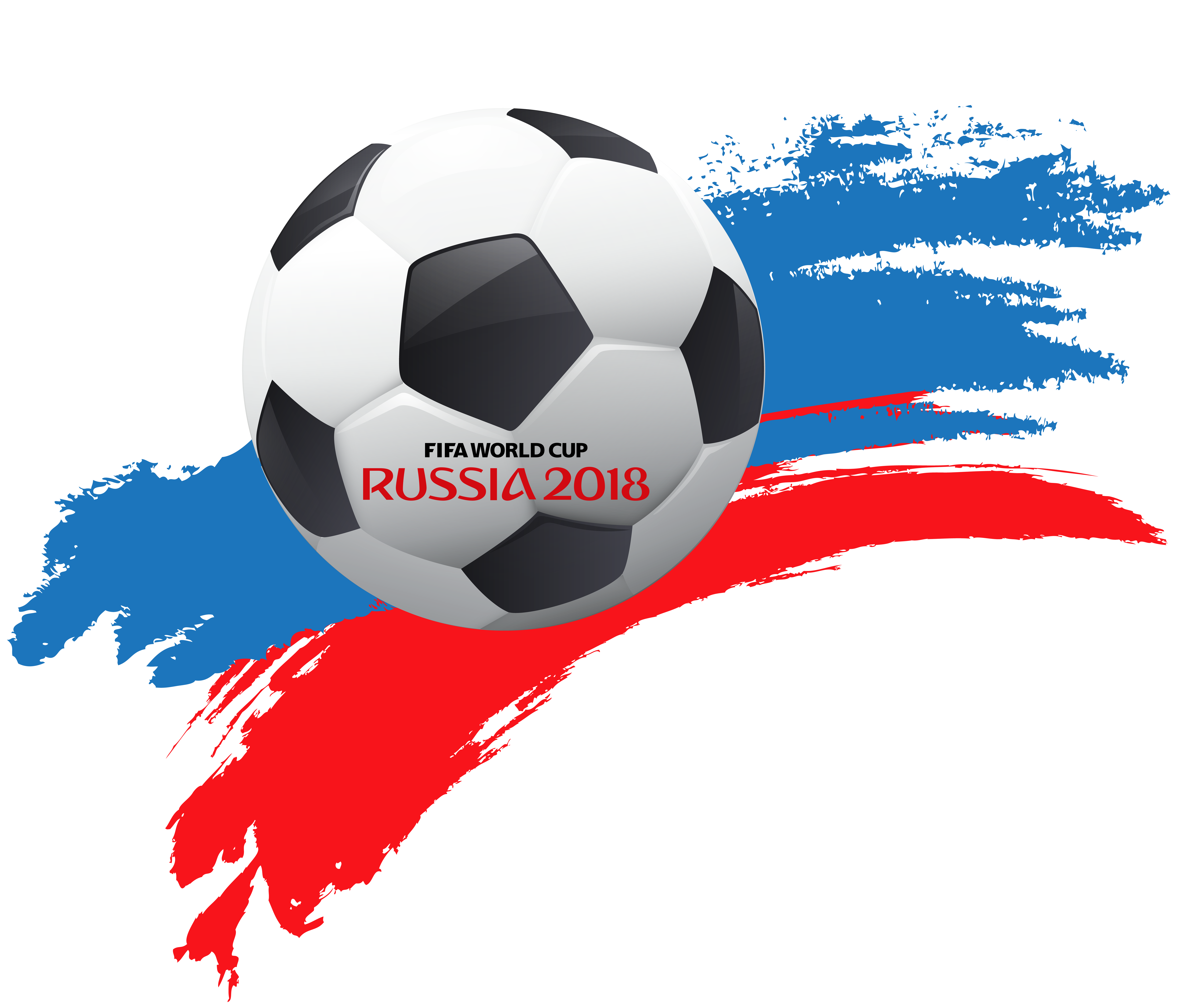 World Cup Russia 2018 with Soccer Ball PNG Clip Art.