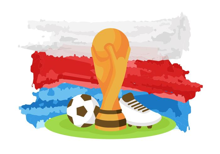 World Cup Russia 2018 Vector.