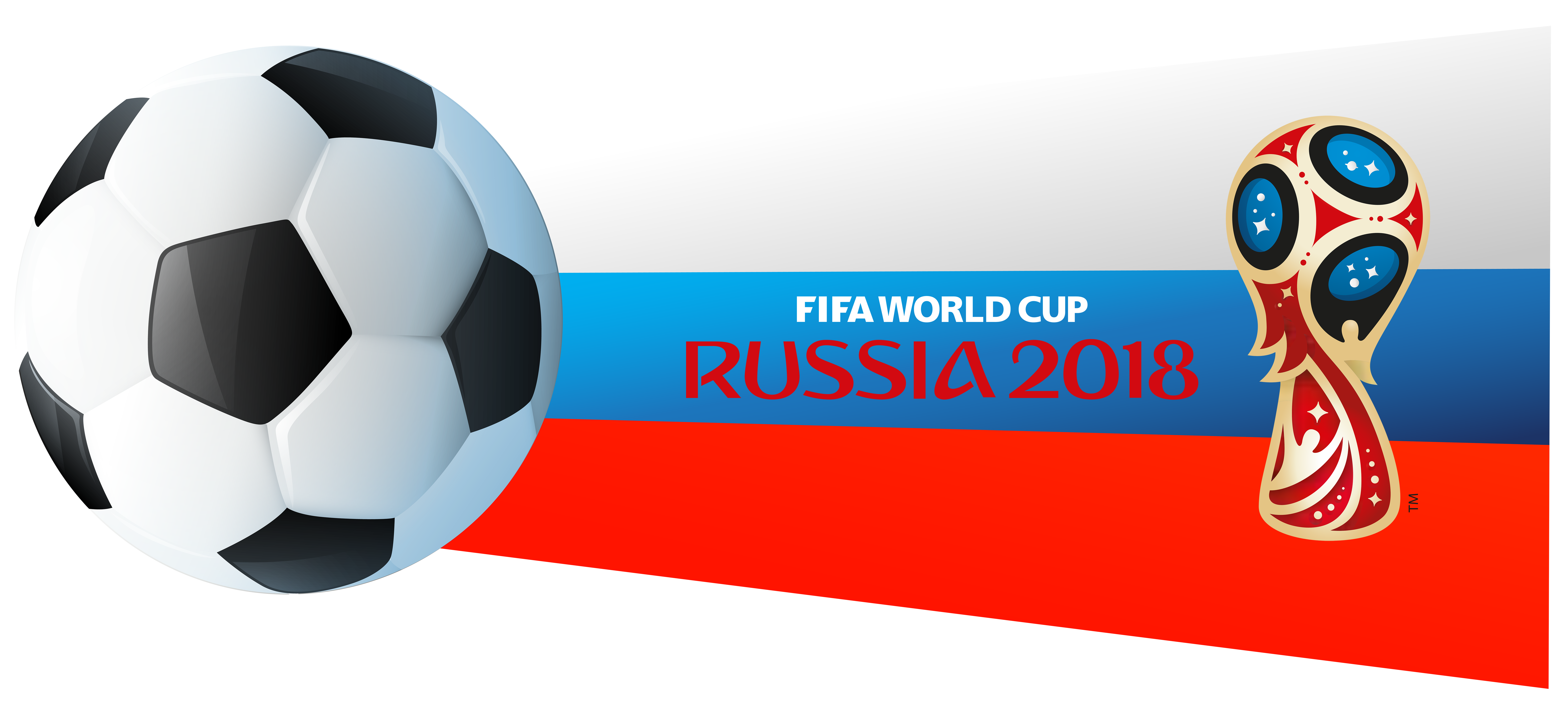 World Cup Russia 2018 PNG Clip Art Image.