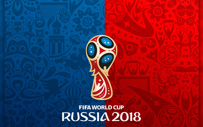 Download wallpapers FIFA World Cup 2018, logo, Russia 2018.