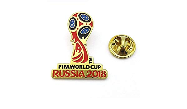 Amazon.com : FIFA World Cup Russia 2018 Logo Pin (Gold and.