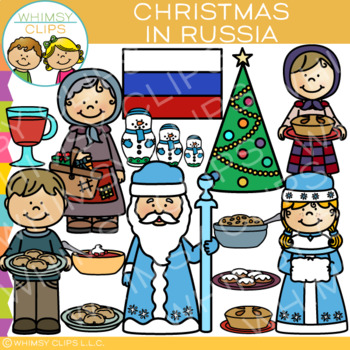 Christmas in Russia Clip Art {Christmas Around the World Clip Art}.