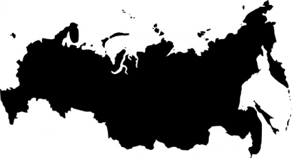 Russia Map Clipart.
