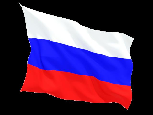 Wave Russian Flag transparent PNG.