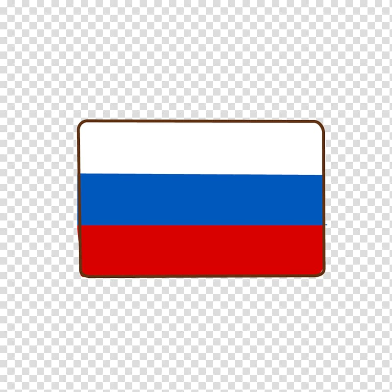 White, blue, and red illustration, Flag of Russia Icon.