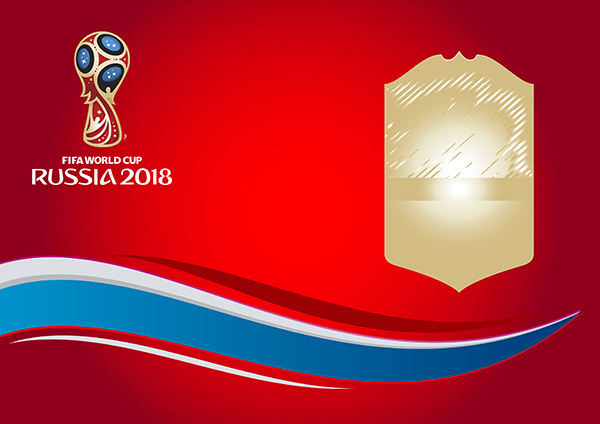 FIFA World Cup Russia 2018 Logo Vector Background.