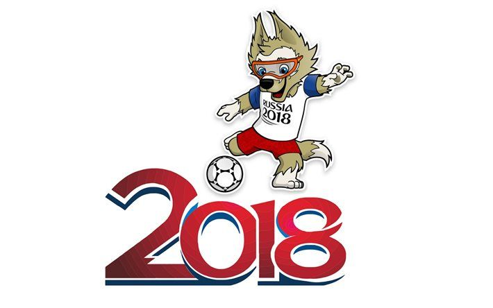 Download wallpapers Soccer, FIFA World Cup, logo, Russia.