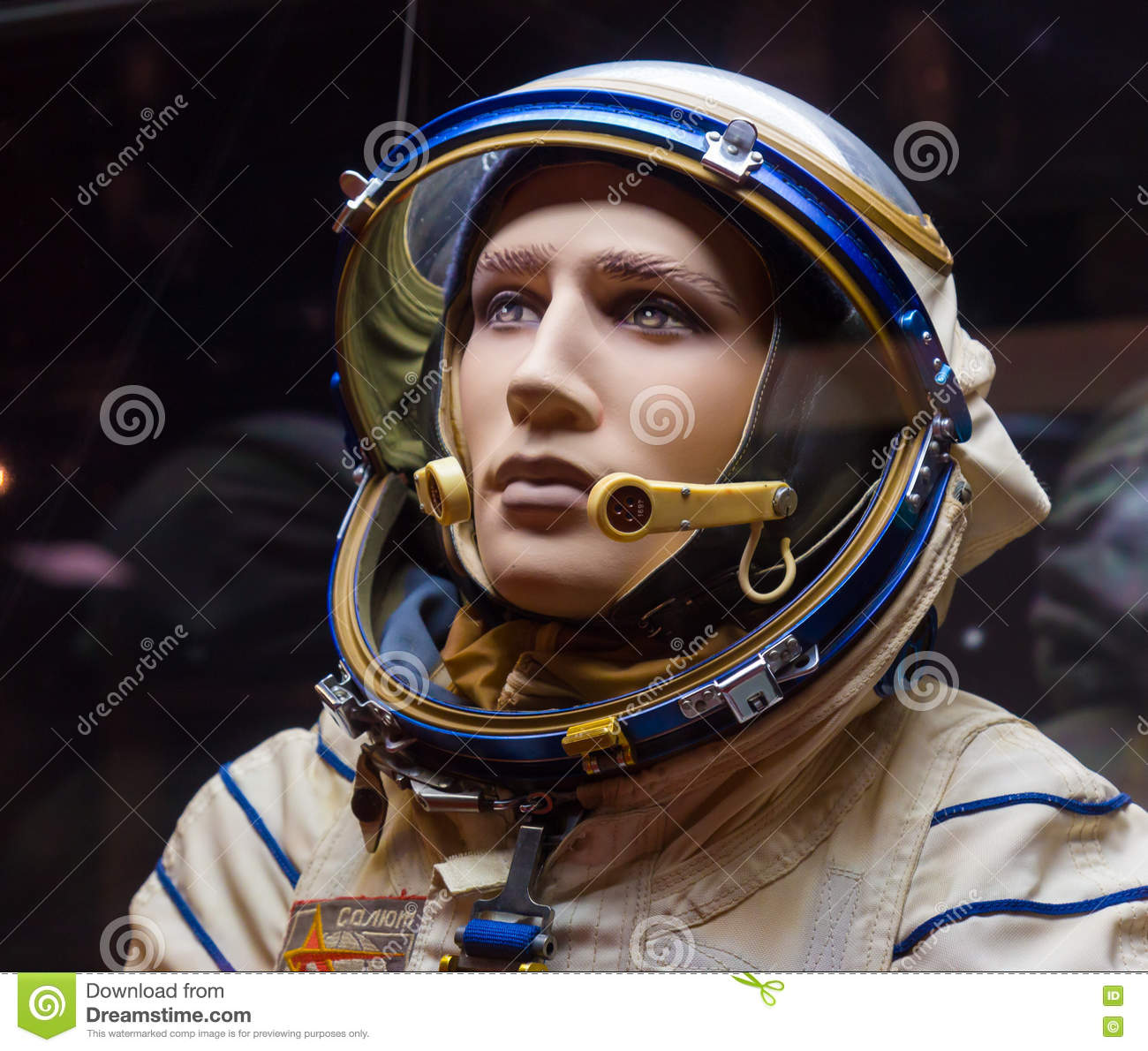 Russian Astronaut Spacesuit In Space Museum Editorial Image.