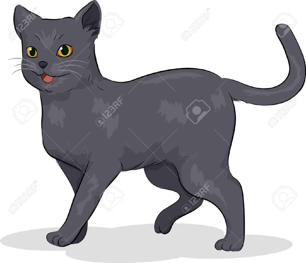 Showing post & media for Cartoon russian blue cat.