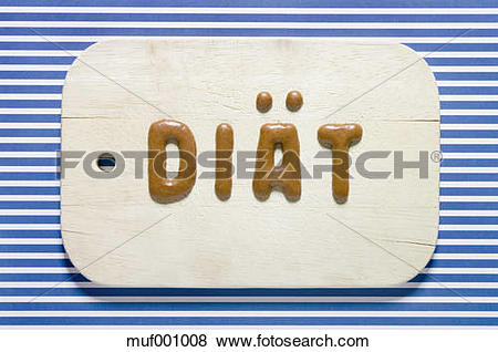 Pictures of Word diet written with russian bread on dish, close up.