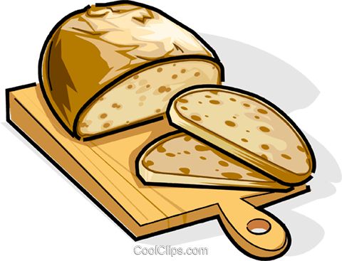 Russian cuisine Russian bread Royalty Free Vector Clip Art.