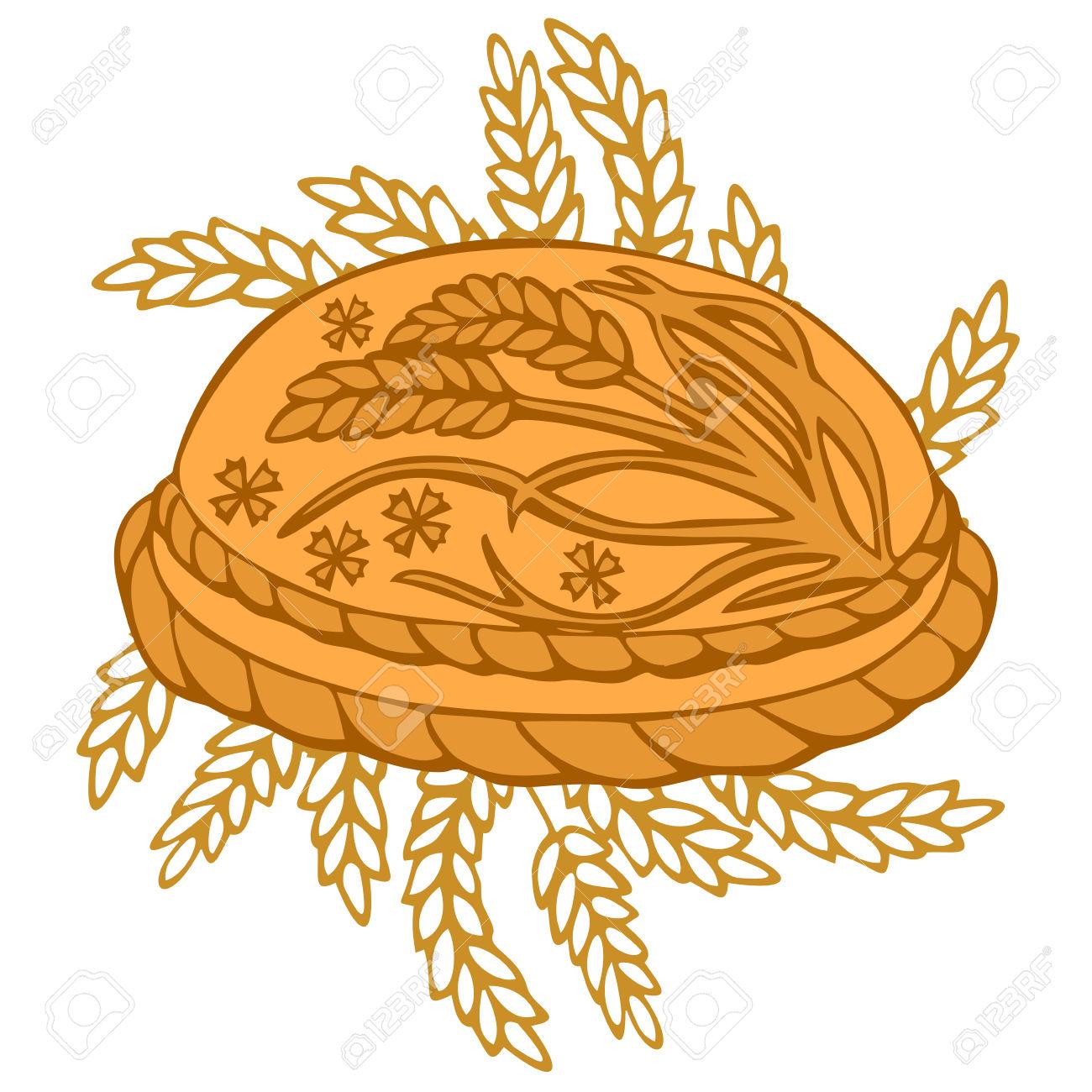 Round Loaf Karavai, Traditional Slavic Russian And Ukrainian.