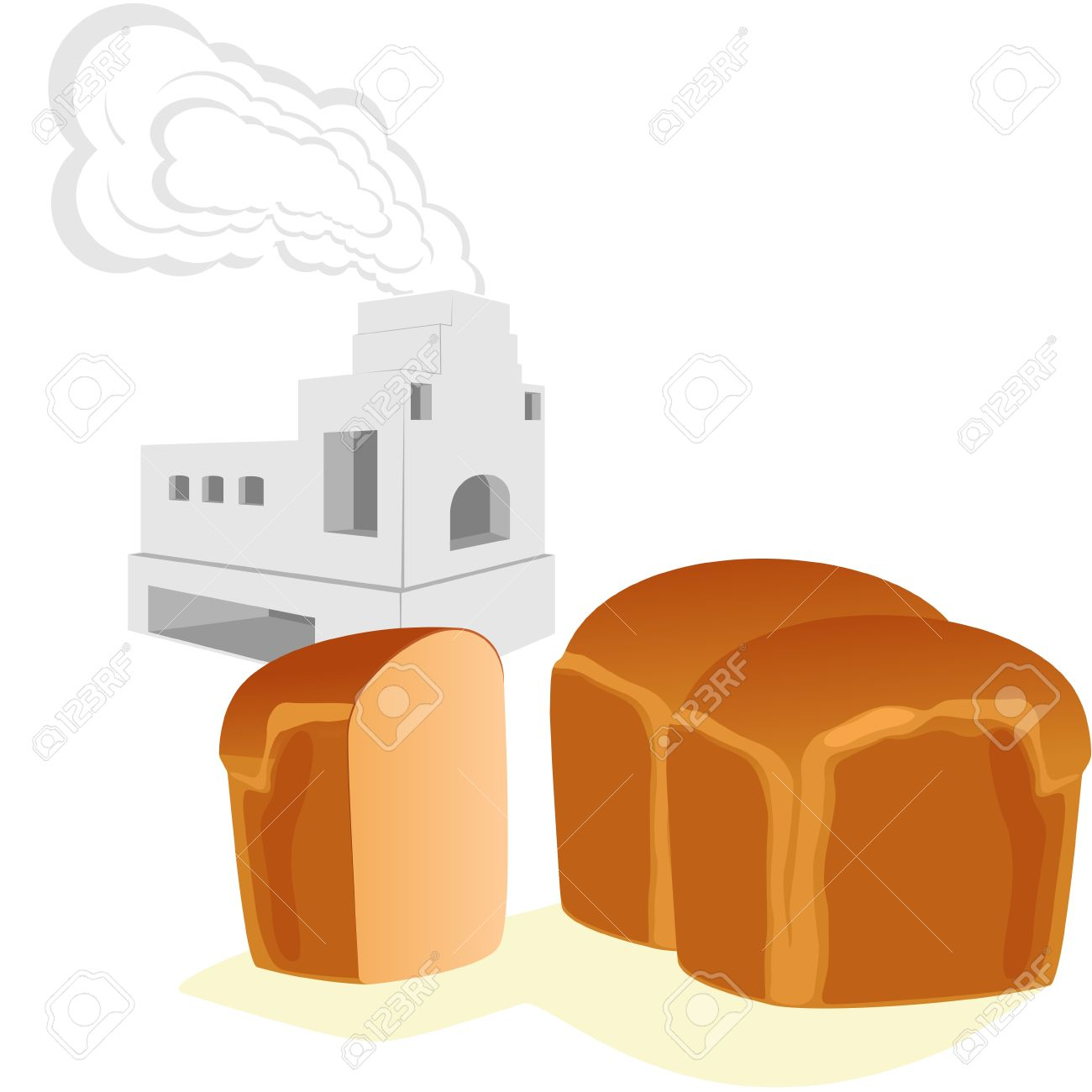 Bread And Russian Stove For Cooking And Heating Homes. The.
