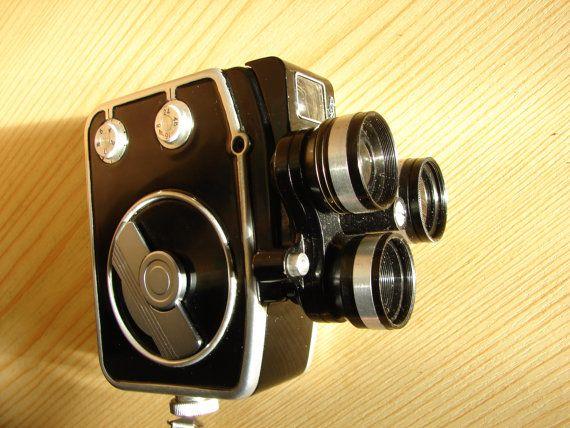 Soviet Vintage film camera EKRAN 3 Russian 8mm Movie Camera RARE.