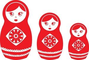 Russian doll clip art free.