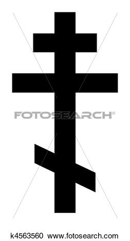 Stock Illustrations of Russian Orthodox Cross k4563560.