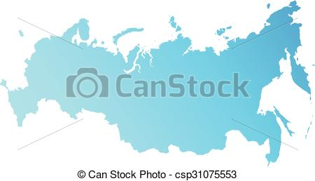 Clipart Vector of New map of the Russian Federation and Crimea.