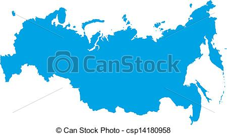 Clipart Vector of Russian Federation Map csp14180958.