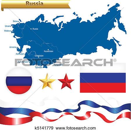 Clip Art of Russian Federation Set k5141779.