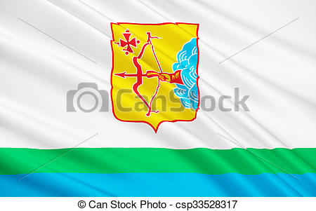 Clipart of Flag of Kirov Oblast, Russian Federation.