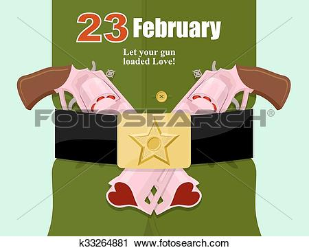 Clipart of 23 February.