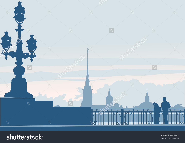 Saint Petersburg Russia Landmark Peter Paul Stock Vector 59858965.