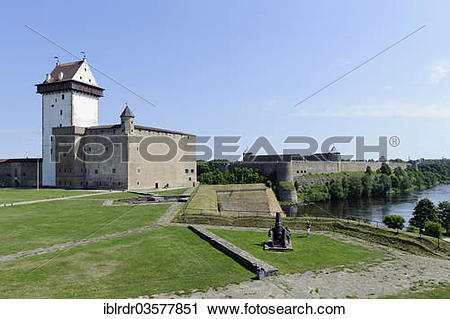 "Stock Photography of ""Hermann Castle or Hermanni linnus, in front."