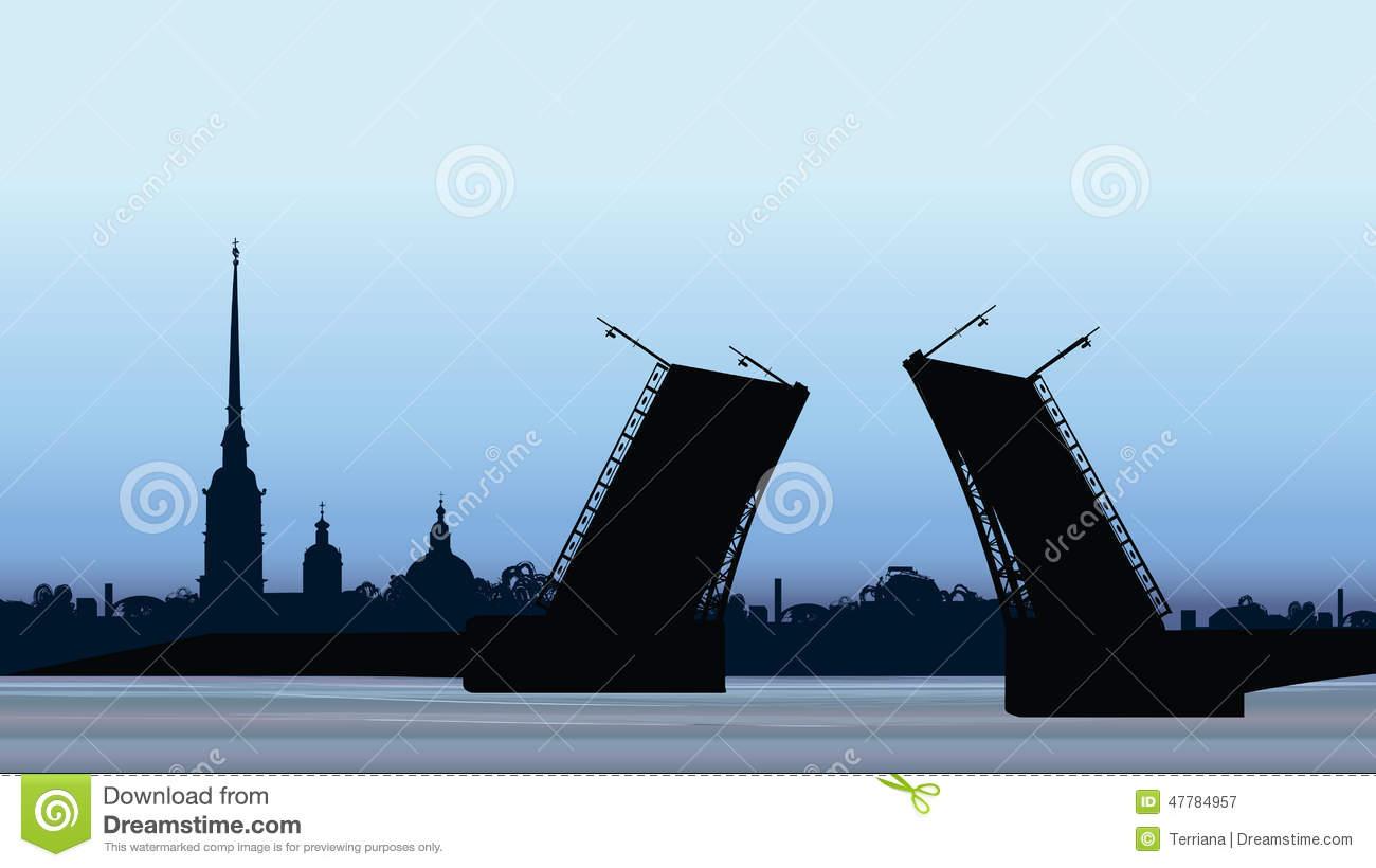 Saint Petersburg Panorama, Russian Landmark Stock Images.