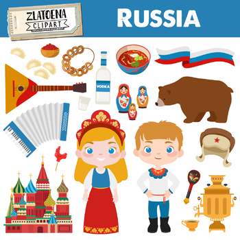 Russia clipart Russian clip art Travel clipart History clipart Russian doll.