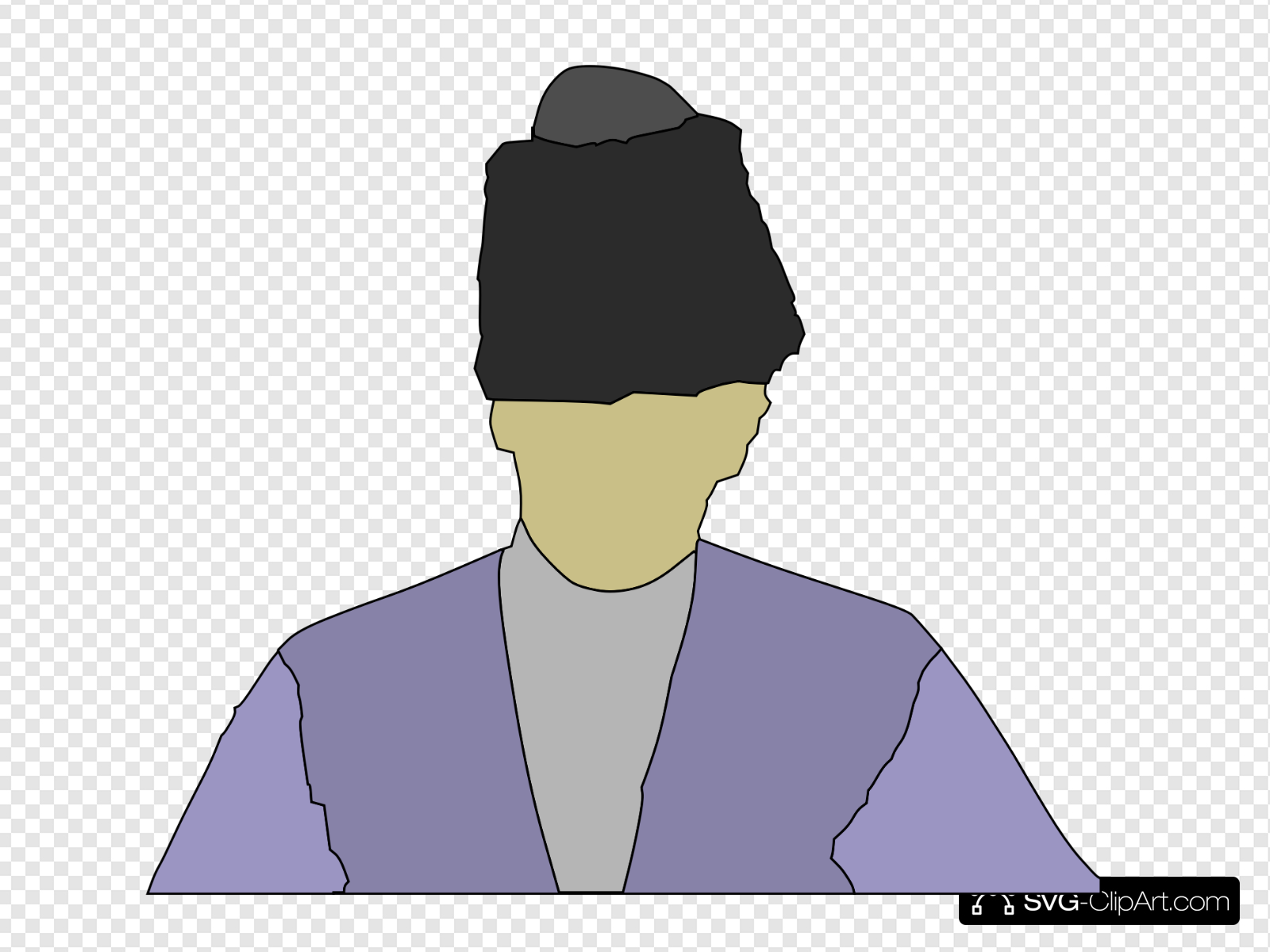 Man Wearing Russian Hat Clip art, Icon and SVG.