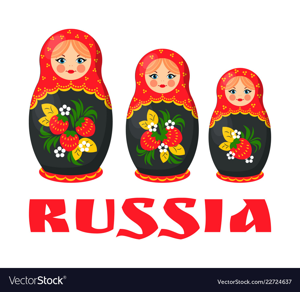 Traditional russian matryoshka doll.