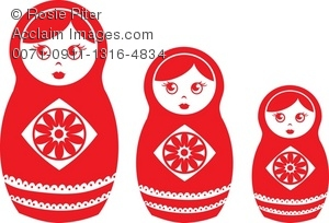 Clipart Illustration Of A Set Of Russian Nesting Dolls.