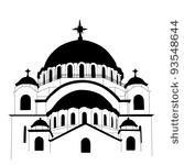 Russian Orthodox Cathedral Clip Art.