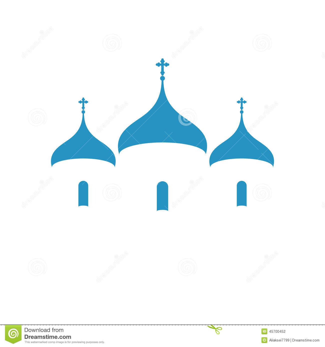 Russian Orthodox Church Stock Illustrations.