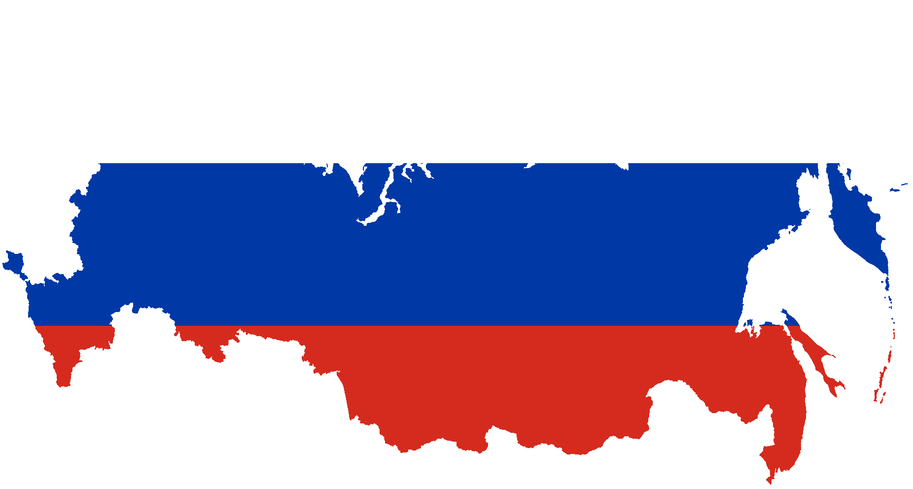 Flag of Russia Map.