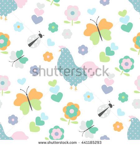 Flower Ladybird Purple Stock Photos, Royalty.