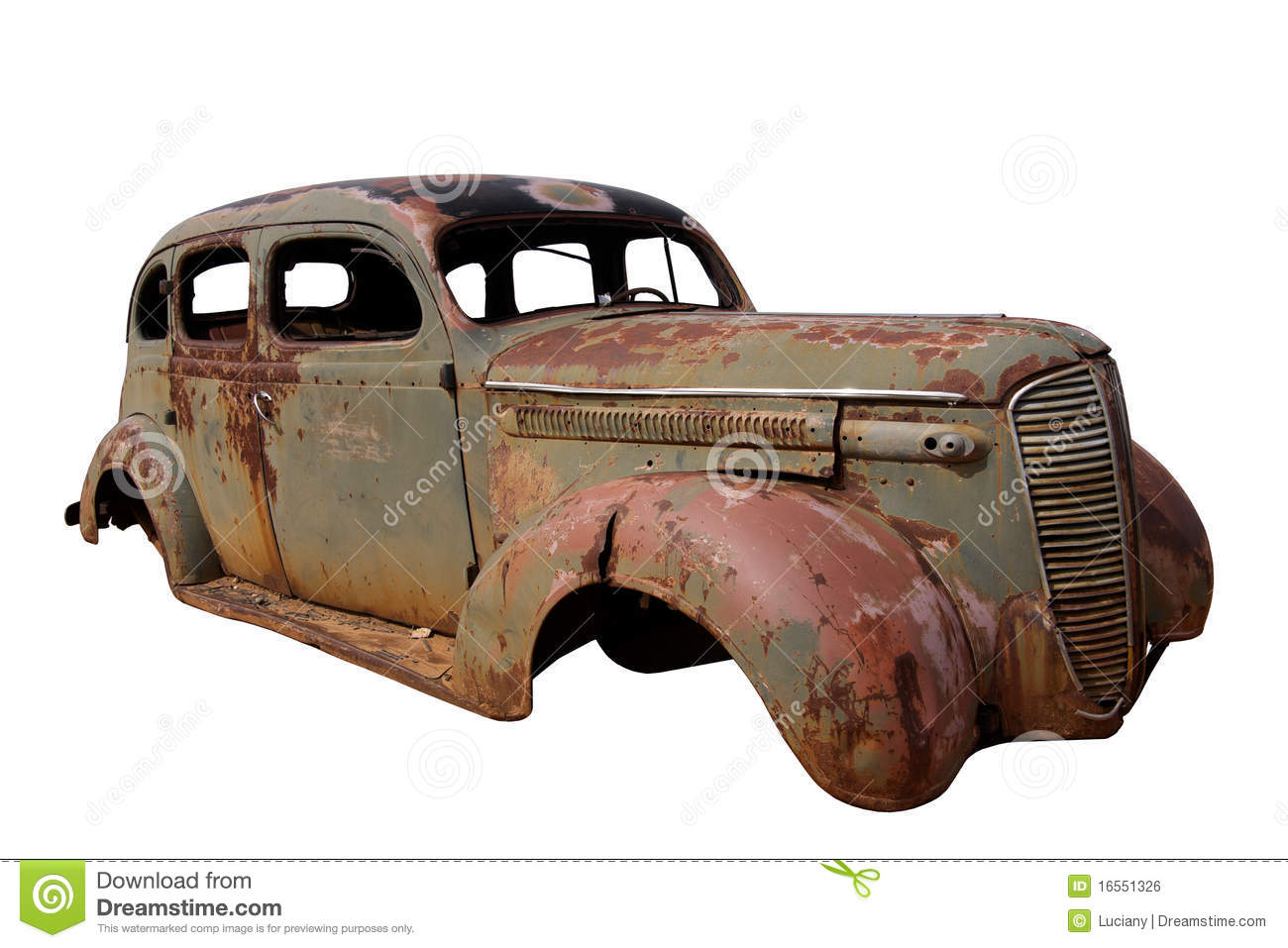 Rusted Old Car Royalty Free Stock Photos.