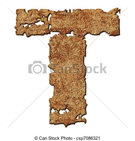 Clipart of Rusted letters..