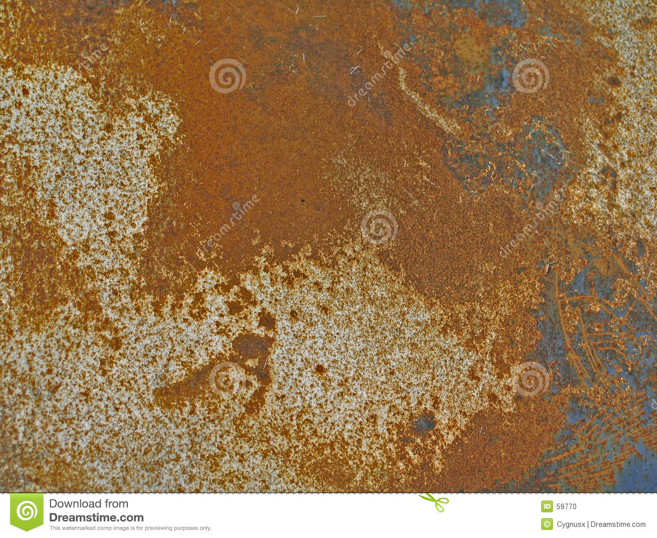 Rusted & Scratched Metal Panel Stock Photo.