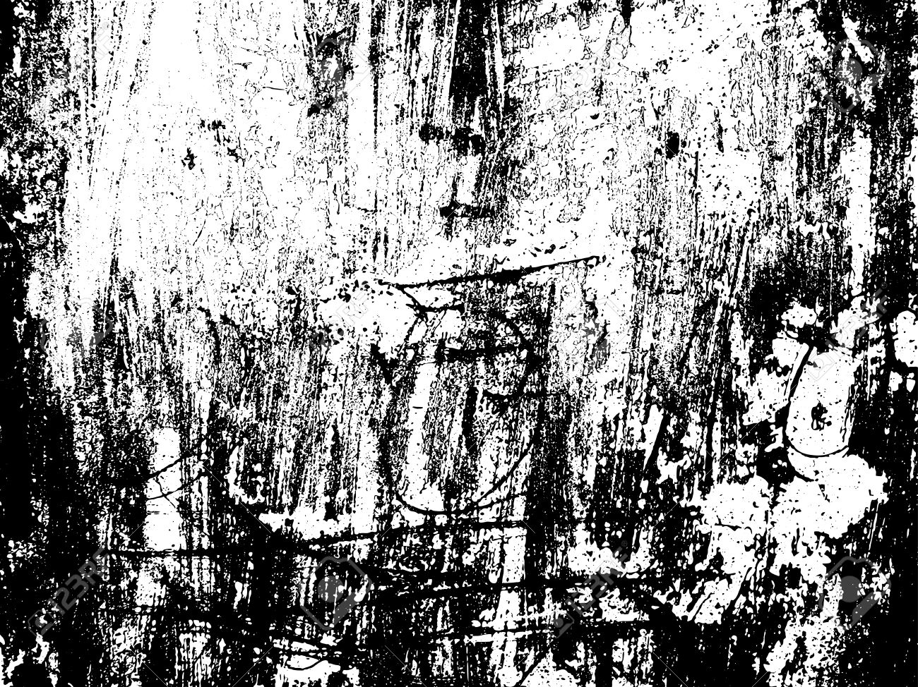 Scratched Texture Overlay. Distressed Texture. Black And White.